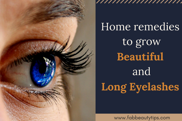 12 Home remedies to grow Beautiful and Long Eyelashes