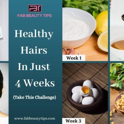 4 Weeks Healthy Hair Challenge