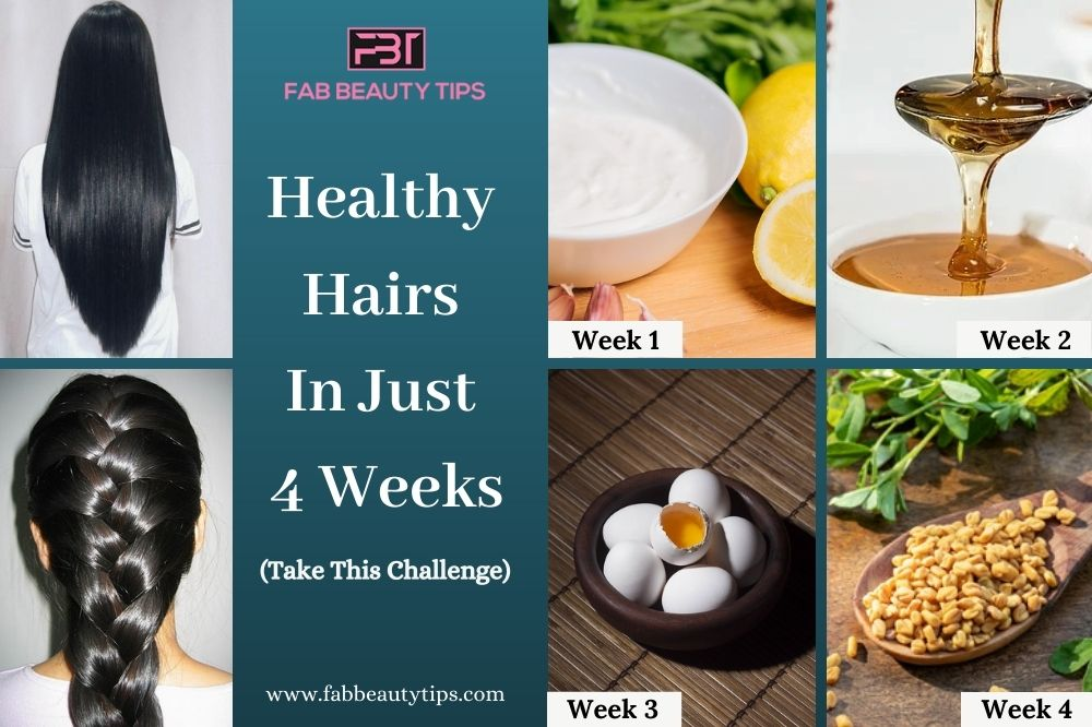 grow healthy hair in 4 weeks, how to have healthy hair in 4 weeks, healthy hair challenge