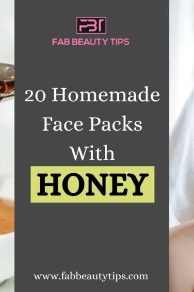 20 Homemade Face Packs With Honey